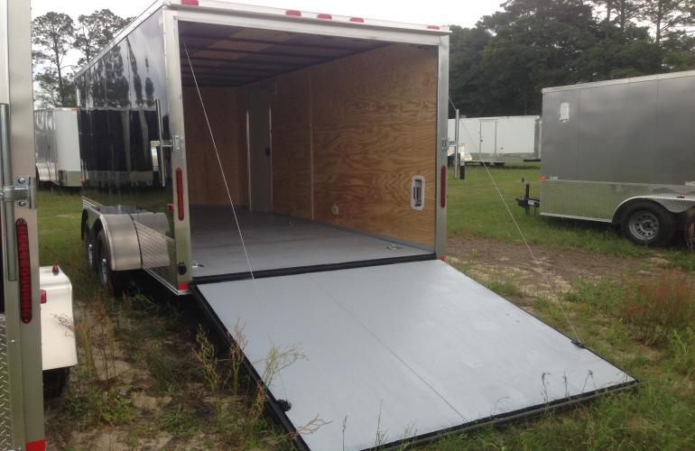 7x16 tandem axle tornado series motorcycle trailer for Tandem flooring