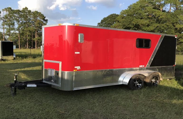 16 Single Axle Trailer : Tandem axle custom motorcycle trailer