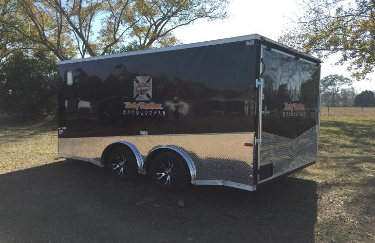 8 5x14 Tandem Axle Harley Davidson Motorcycle Trailer